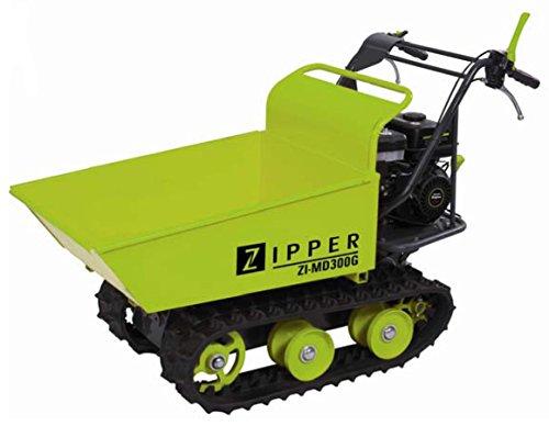 Zipper Mini Dumper ZI-MD300G zum Kippen, Raupendumper, Motorschubkarre inkl. Schneeschild