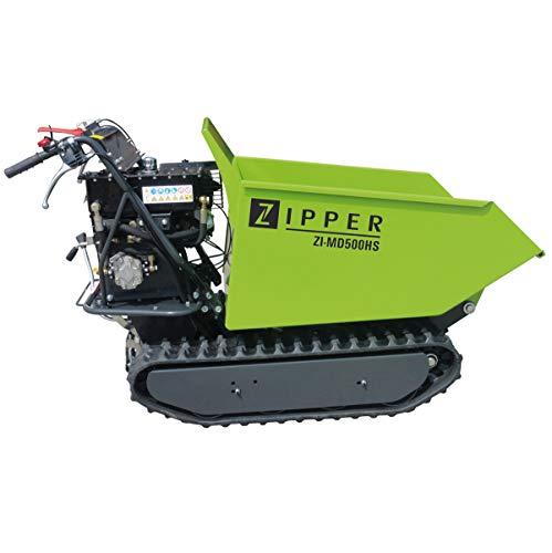 Zipper Mini Dumper ZI-MD500HS mit Kipphydraulik, Raupendumper, Motorschubkarre Kapazität bis 500 kg, Neu – mit stärkeren Motor - 2