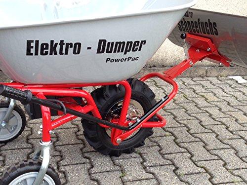 POWERPAC Schneeschild 740mm Edelstahl mit Gummileiste und Adapter passend für ED120 – AKKUSCHUBKARRE ELEKTROSCHUBKARRE AKKUSCHNEERÄUMER AKKUSCHNEESCHIEBER SCHUBKARRE DUMPER MOTORSCHUBKARRE - 3