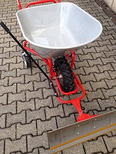 POWERPAC Schneeschild 740mm Edelstahl mit Gummileiste und Adapter passend für ED120 – AKKUSCHUBKARRE ELEKTROSCHUBKARRE AKKUSCHNEERÄUMER AKKUSCHNEESCHIEBER SCHUBKARRE DUMPER MOTORSCHUBKARRE - 7