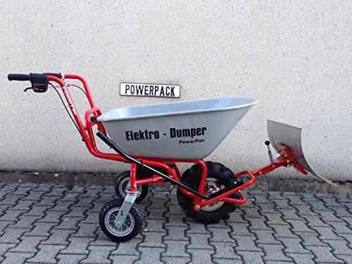 POWERPAC Schneeschild 740mm Edelstahl mit Gummileiste und Adapter passend für ED120 – AKKUSCHUBKARRE ELEKTROSCHUBKARRE AKKUSCHNEERÄUMER AKKUSCHNEESCHIEBER SCHUBKARRE DUMPER MOTORSCHUBKARRE - 8