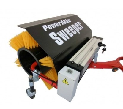 POWERPAC Akku Kehrbesen 50cm passend für Elektro-Schneeräumer ES230 und Elektro-Dumper ED120 inkl. Adapter - AKKUSCHUBKARRE ELEKTROSCHUBKARRE AKKUSCHNEERÄUMER AKKUSCHNEESCHIEBER SCHUBKARRE DUMPER MOTORSCHUBKARRE