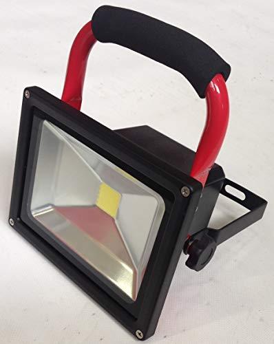 POWERPAC LED Strahler mit Akku, Stromverbrauch: 20W - Farbtemperatur: Kaltweiß (6000K-6500K) passend für Elektro-Schneeräumer ES230 - AKKUSCHNEERÄUMER AKKUSCHNEESCHIEBER SCHNEEFRÄSE SCHNEESCHILD