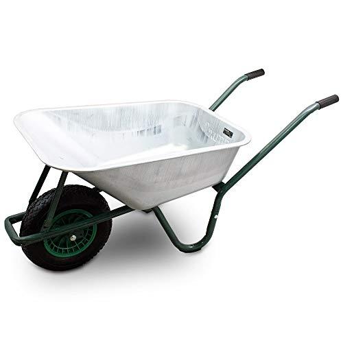 BITUXX® Schubkarre 100L Schubkarren Schiebkarre Bauschubkarre Verzinkt mit Luftreifen bis 250kg