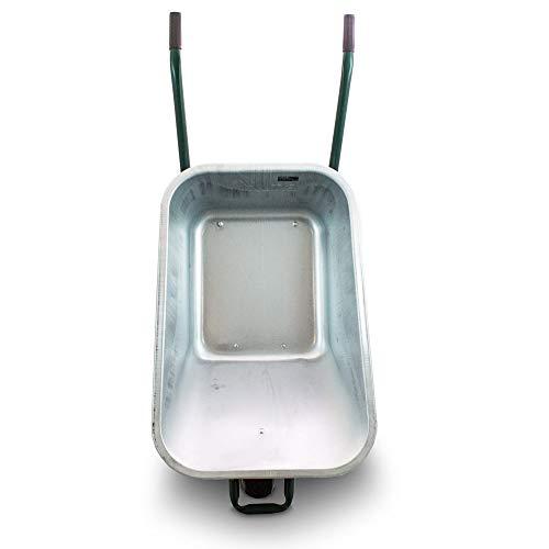 BITUXX® Schubkarre 100L Schubkarren Schiebkarre Bauschubkarre Verzinkt mit Luftreifen bis 250kg - 3