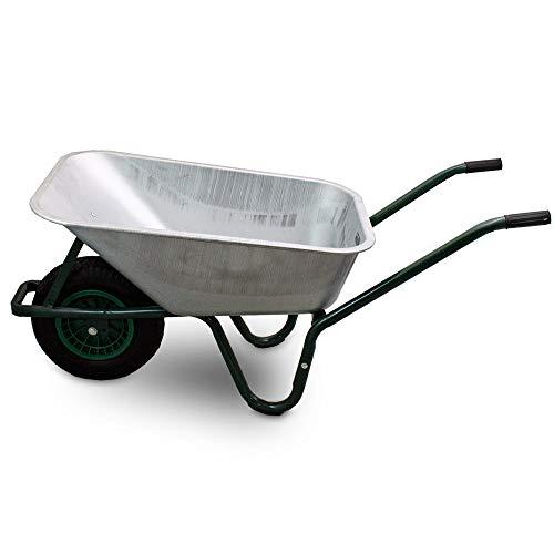 BITUXX® Schubkarre 100L Schubkarren Schiebkarre Bauschubkarre Verzinkt mit Luftreifen bis 250kg - 5