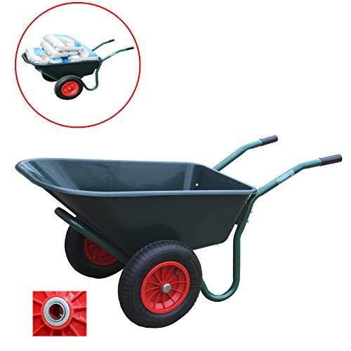 TrutzHolm® 2-Rad Schubkarre Basic PP Gartenschubkarre Schiebkarre Gartenkarre 100l 160kg