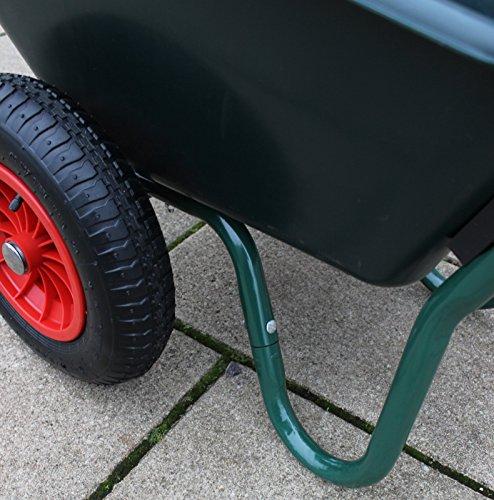TrutzHolm® 2-Rad Schubkarre Basic PP Gartenschubkarre Schiebkarre Gartenkarre 100l 160kg - 4
