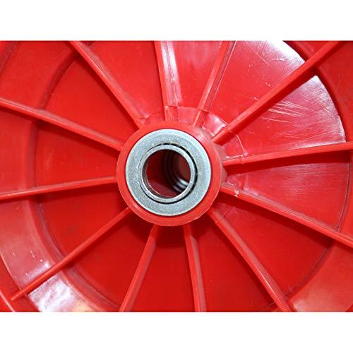 TrutzHolm® 2-Rad Schubkarre Basic PP Gartenschubkarre Schiebkarre Gartenkarre 100l 160kg - 8