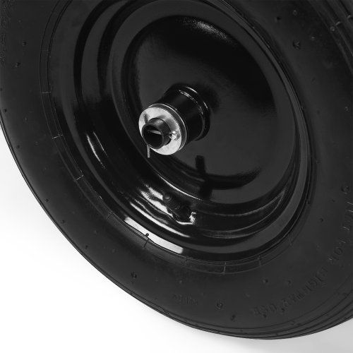 Deuba Monzana® Schubkarre 2Rad 150kg Bauschubkarre 100L Transportkarre Gartenkarre Baukarre | Stahlfelge | 2 Luftreifen | Autoventil | Kugellager - 5