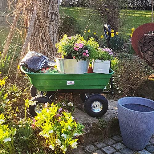 Deuba® Gartenkarre aus Kunststoff | Kippfunktion | Lenkachse | Luftreifen - Transportwagen Bollerwagen Muldenkipper Kippwagen Transportkarre Gartenwagen - 2